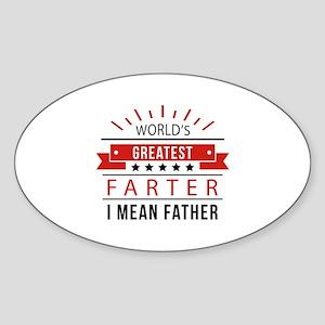 World's Greatest Farter Sticker (Oval)