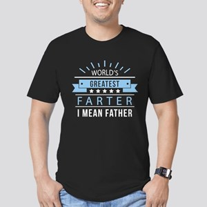 World's Greatest Farter Men's Fitted T-Shirt (dark