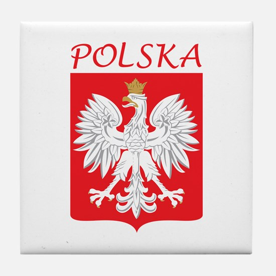 White Eagle and Polska Tile Coaster