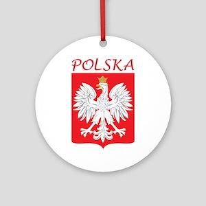 White Eagle and Polska Ornament (Round)