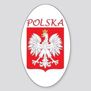 White Eagle and Polska Oval Sticker