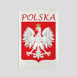 White Eagle and Polska Rectangle Magnet