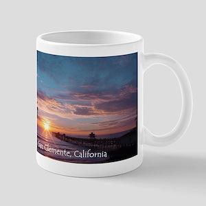 San Clemente pier sunset Mugs