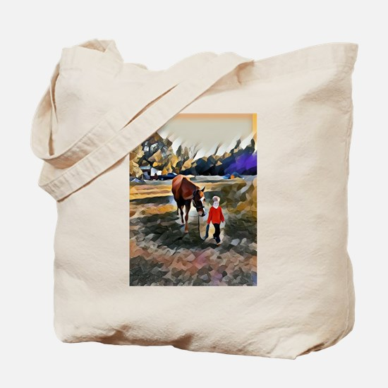 A Horse and Her Boy Tote Bag