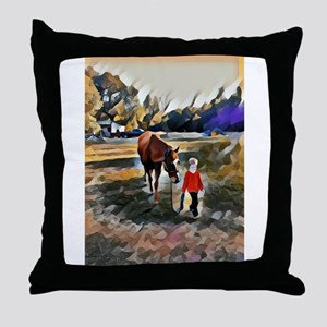 A Horse and Her Boy Throw Pillow