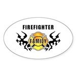 Firefighter Family Oval Sticker