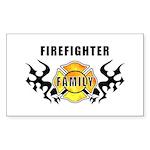 Firefighter Family Sticker (Rectangular)