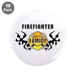 """Firefighter Family 3.5"""" Button (10 pack)"""