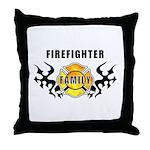 Firefighter Family Throw Pillow