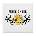 Firefighter Family Tile Coaster
