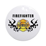 Firefighter Family Ornament (Round)