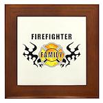 Firefighter Family Framed Tile