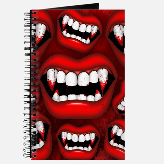 Vampire Red Bloody Mouth Journal