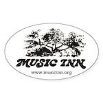 Music Inn Sticker (oval)