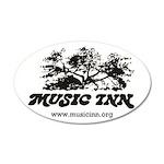 Music Inn 35x21 Oval Wall Decal