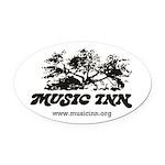 Music Inn Oval Car Magnet