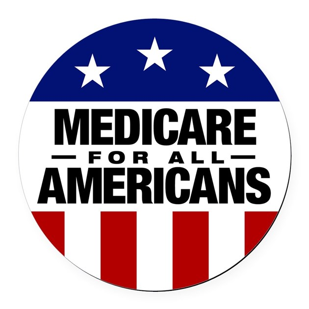 Medicare For All Americans Round Car Magnet By Gearamerica
