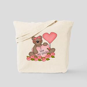 I LOVE My Uncle CUTE Bear Tote Bag