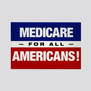 Medicare For All Americans Rectangle Magnets