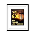 GOD IS GREAT Framed Panel Print