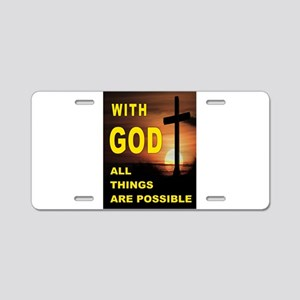 GOD IS GREAT Aluminum License Plate