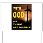 GOD IS GREAT Yard Sign
