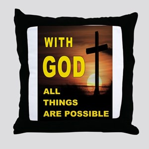 GOD IS GREAT Throw Pillow