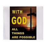 GOD IS GREAT Throw Blanket