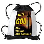 GOD IS GREAT Drawstring Bag