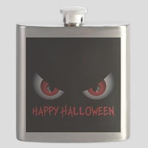 Spooky Eyes Happy Halloween Flask