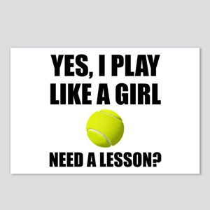 Like A Girl Tennis Postcards (Package of 8)