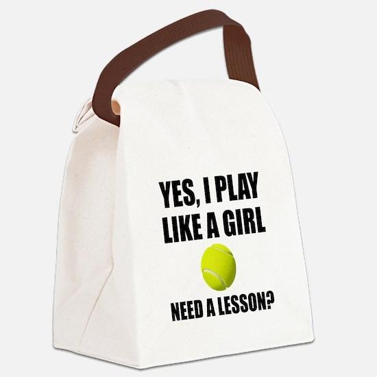 Like A Girl Tennis Canvas Lunch Bag