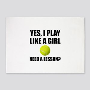 Like A Girl Tennis 5'x7'Area Rug