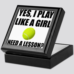 Like A Girl Tennis Keepsake Box