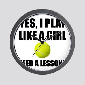 Like A Girl Tennis Wall Clock