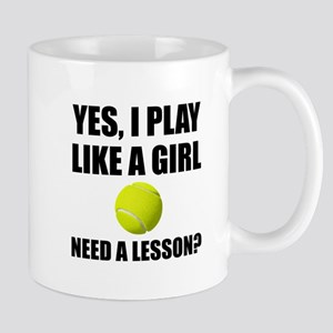 Like A Girl Tennis Mugs