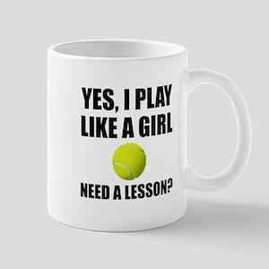 Like A Girl Tennis Mugs