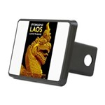 Laos Vintage Travel Print Rectangular Hitch Cover