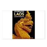Laos Vintage Travel Print Postcards (Package of 8)