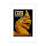 Laos Vintage Travel Print Poster Print