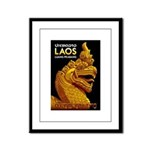 Laos Vintage Travel Print Framed Panel Print