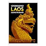 Laos Vintage Travel Print Poster