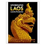 Laos Vintage Travel Print Small Poster