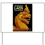Laos Vintage Travel Print Yard Sign