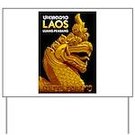 Laos Vintage Travel Print Yard Sign