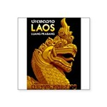 Laos Vintage Travel Print Sticker