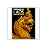 Laos Vintage Travel Print Sticker