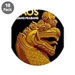 """Laos Vintage Travel Print 3.5"""" Button (10 pack)"""