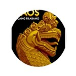 Laos Vintage Travel Print Button
