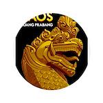 Laos Vintage Travel Print Button